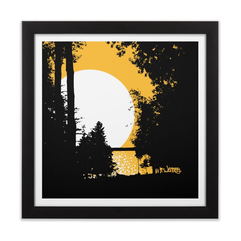 Mullett Lake, Michigan Home Framed Fine Art Print by Jeremy Wheeler