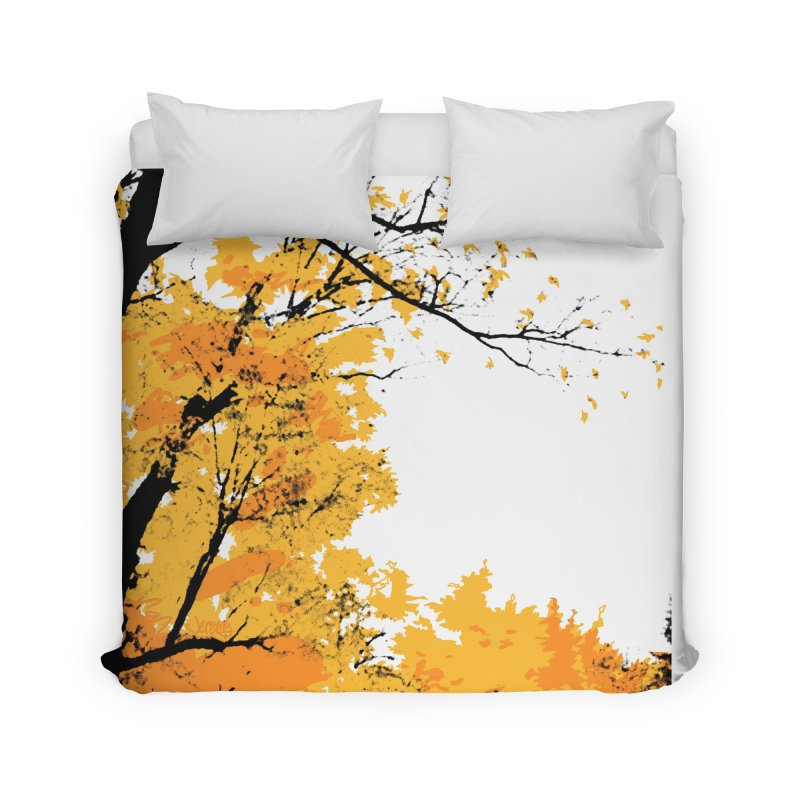 Michigan Fall Home Duvet by Jeremy Wheeler