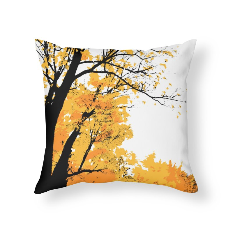 Michigan Fall Home Throw Pillow by Jeremy Wheeler