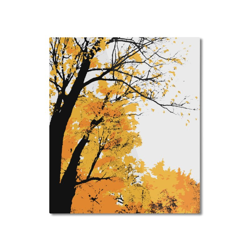 Michigan Fall Home Mounted Aluminum Print by Jeremy Wheeler