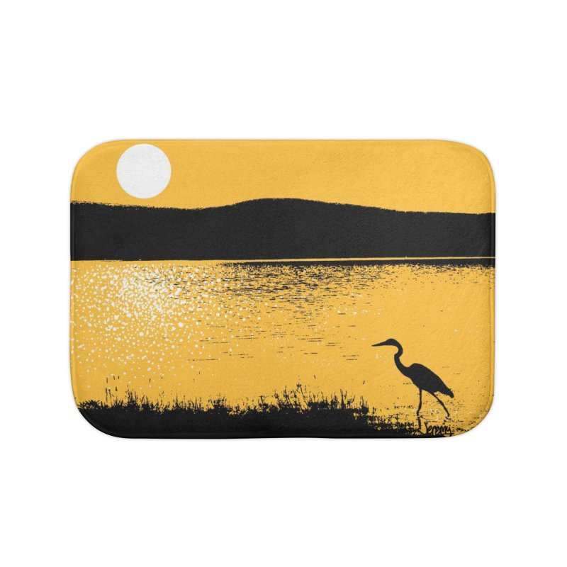 New Hampshire Heron at Sunrise Home Bath Mat by Jeremy Wheeler