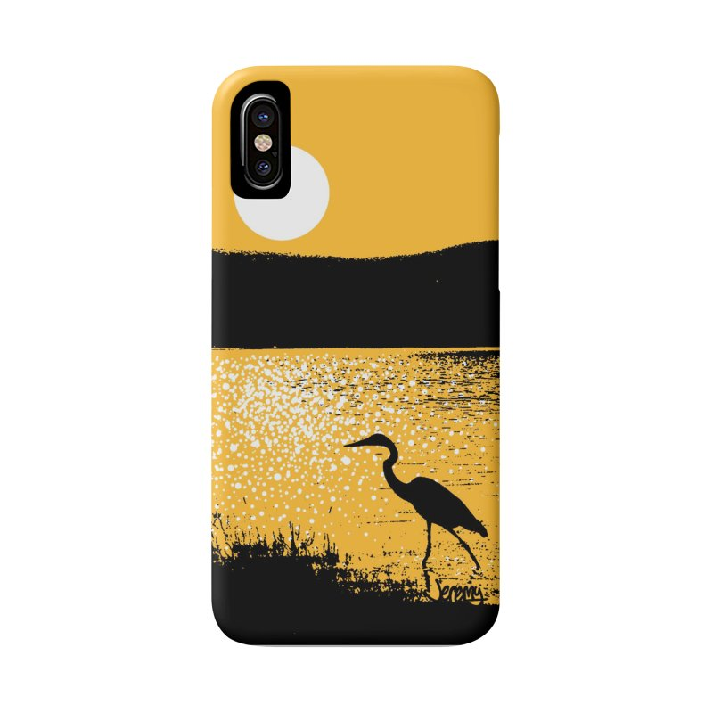 New Hampshire Heron at Sunrise Accessories Phone Case by Jeremy Wheeler