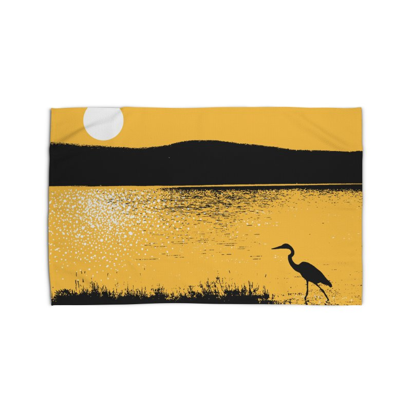 New Hampshire Heron at Sunrise Home Rug by Jeremy Wheeler