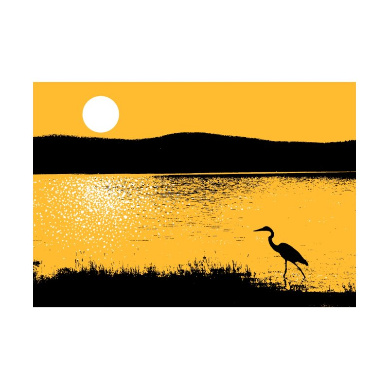 New Hampshire Heron at Sunrise Home Shower Curtain by Jeremy Wheeler