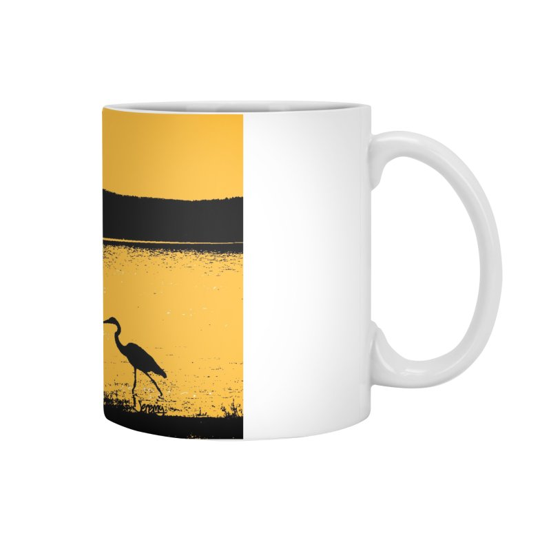 New Hampshire Heron at Sunrise Accessories Mug by Jeremy Wheeler