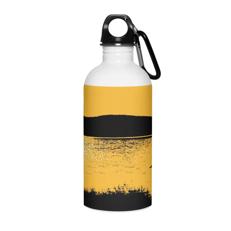 New Hampshire Heron at Sunrise Accessories Water Bottle by Jeremy Wheeler