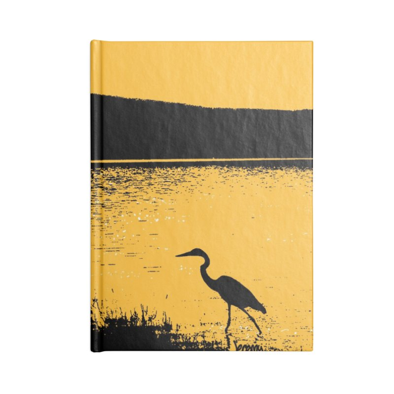 New Hampshire Heron at Sunrise Accessories Lined Journal Notebook by Jeremy Wheeler