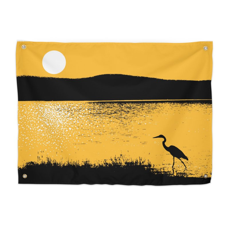 New Hampshire Heron at Sunrise Home Tapestry by Jeremy Wheeler