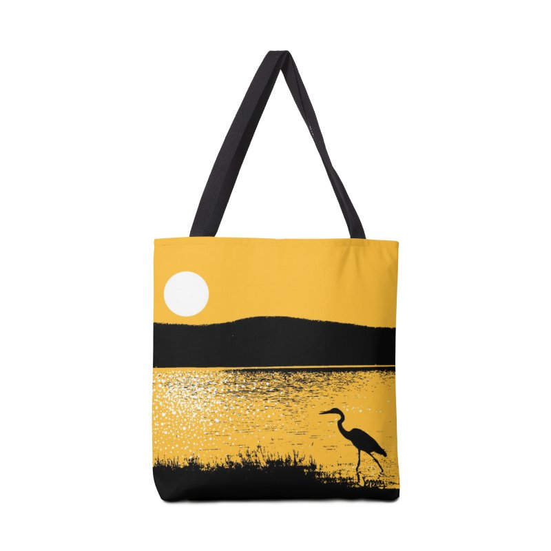 New Hampshire Heron at Sunrise Accessories Tote Bag Bag by Jeremy Wheeler