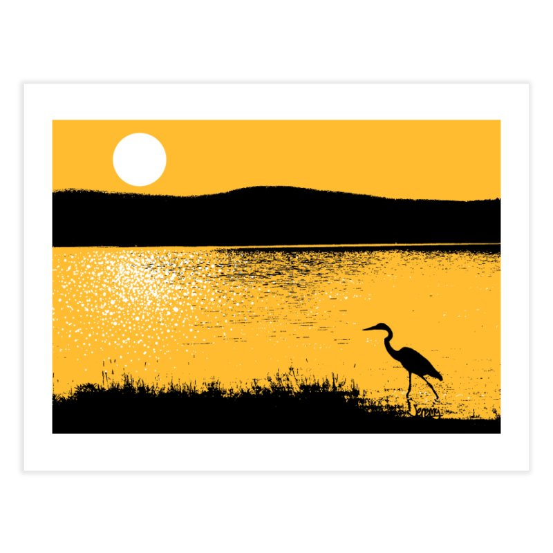 New Hampshire Heron at Sunrise Home Fine Art Print by Jeremy Wheeler