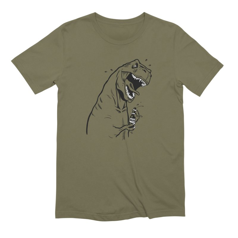 T-Rex with a Drinking Problem Men's Extra Soft T-Shirt by Jerkass