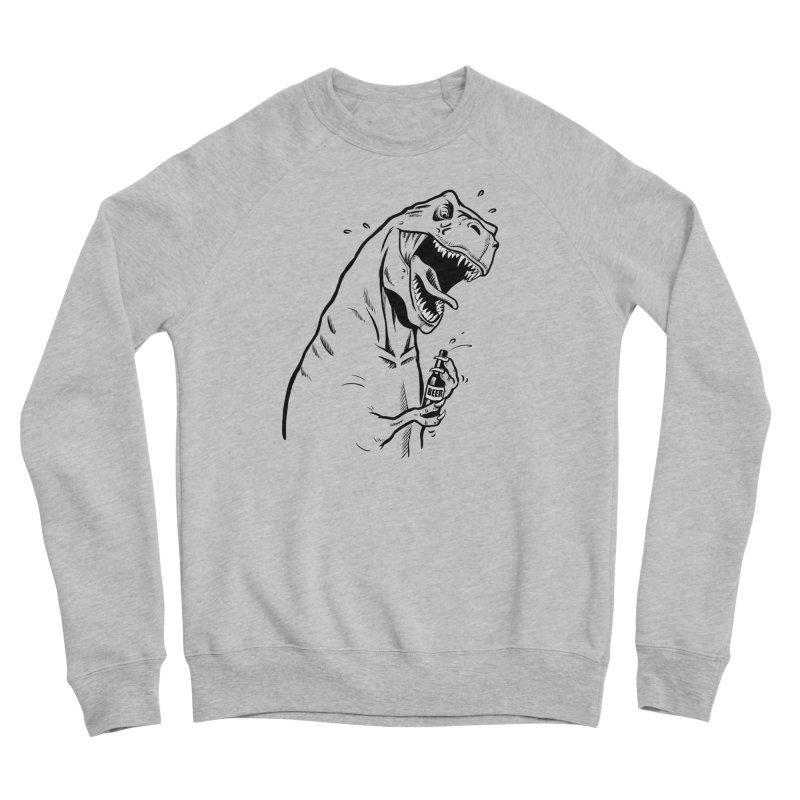 T-Rex with a Drinking Problem Men's Sponge Fleece Sweatshirt by Jerkass