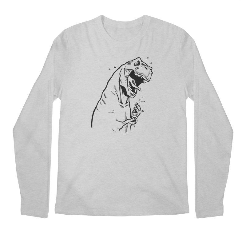 T-Rex with a Drinking Problem Men's Regular Longsleeve T-Shirt by Jerkass