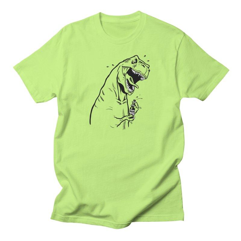 T-Rex with a Drinking Problem Men's Regular T-Shirt by Jerkass