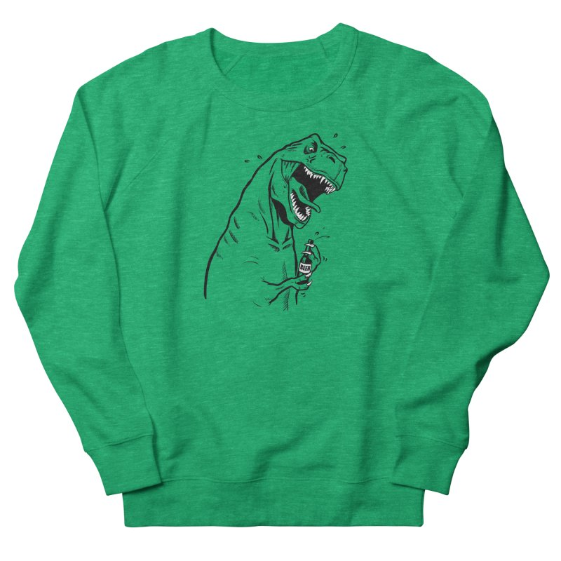 T-Rex with a Drinking Problem Men's French Terry Sweatshirt by Jerkass