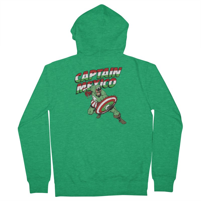 Captain Mexico Men's French Terry Zip-Up Hoody by Jerkass