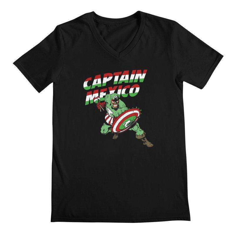 Captain Mexico Men's Regular V-Neck by Jerkass