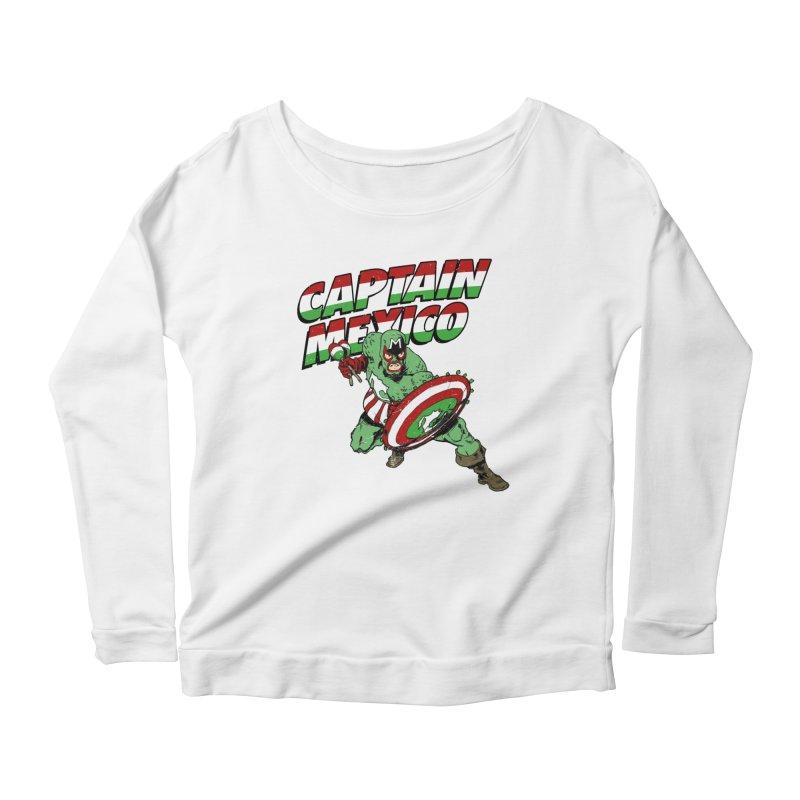 Captain Mexico Women's Scoop Neck Longsleeve T-Shirt by Jerkass