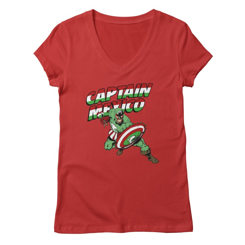 Captain Mexico Women's Regular V-Neck by Jerkass