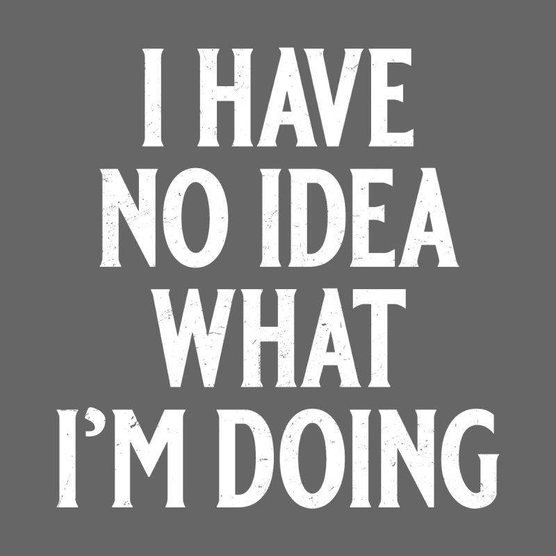 I Have No Idea What I'm Doing Women's T-Shirt by Jerkass