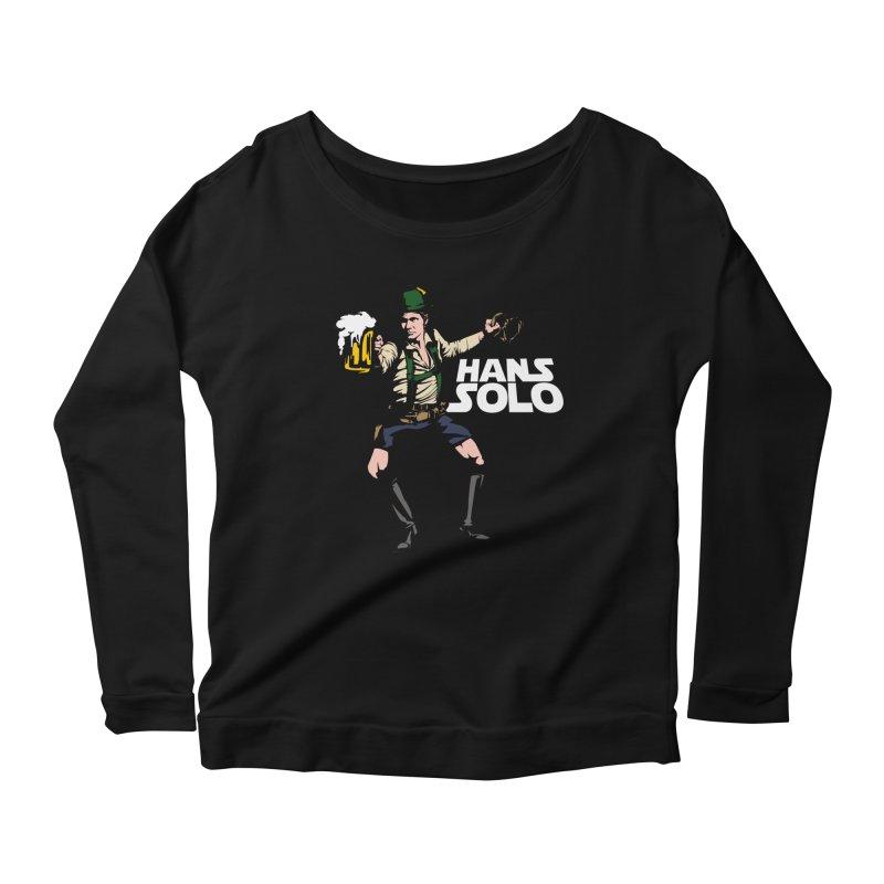 Hans Solo Women's Scoop Neck Longsleeve T-Shirt by Jerkass