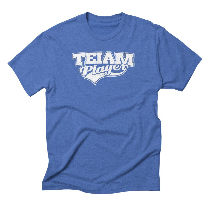 TEIAM Player in Men's Triblend T-Shirt Blue Triblend by Jerkass