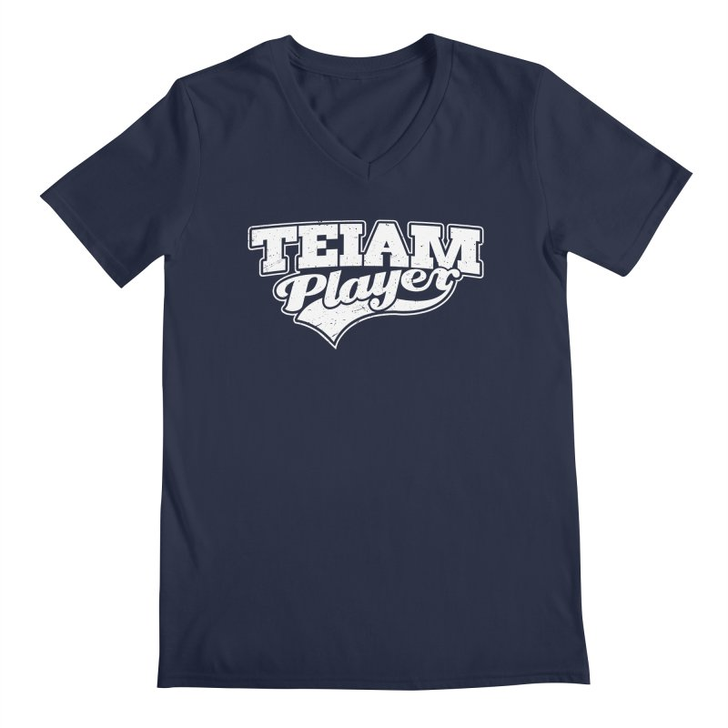 TEIAM Player Men's Regular V-Neck by Jerkass