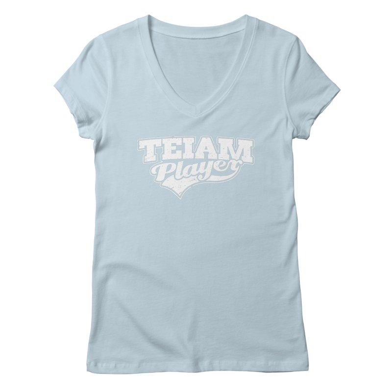TEIAM Player Women's Regular V-Neck by Jerkass