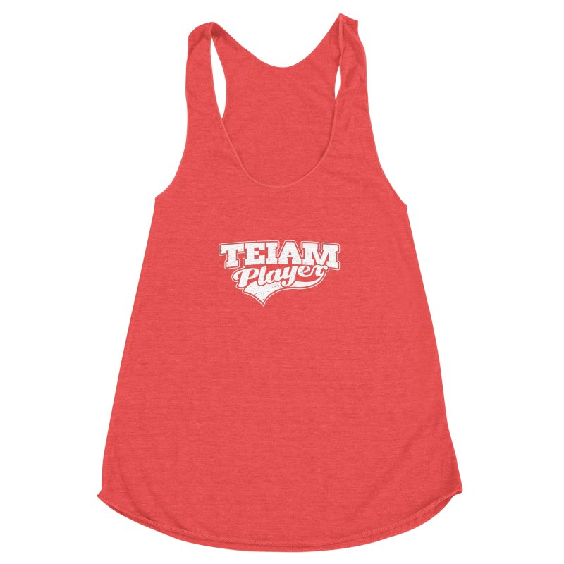TEIAM Player Women's Racerback Triblend Tank by Jerkass