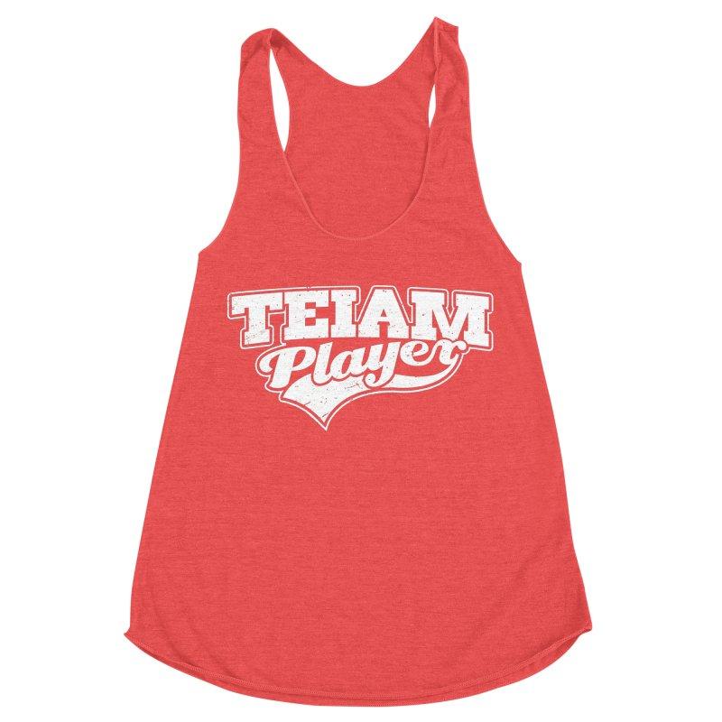 TEIAM Player Women's Racerback Triblend Tank by Jerkass