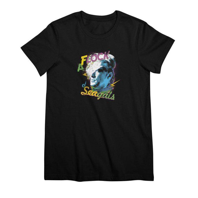 A Flock of Seagals Women's Premium T-Shirt by Jerkass