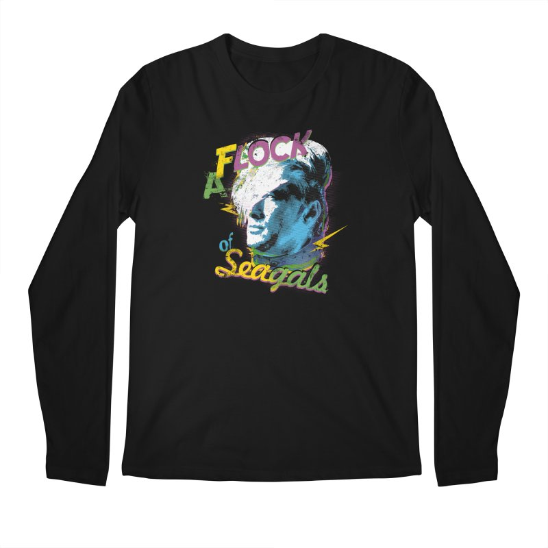 A Flock of Seagals Men's Regular Longsleeve T-Shirt by Jerkass