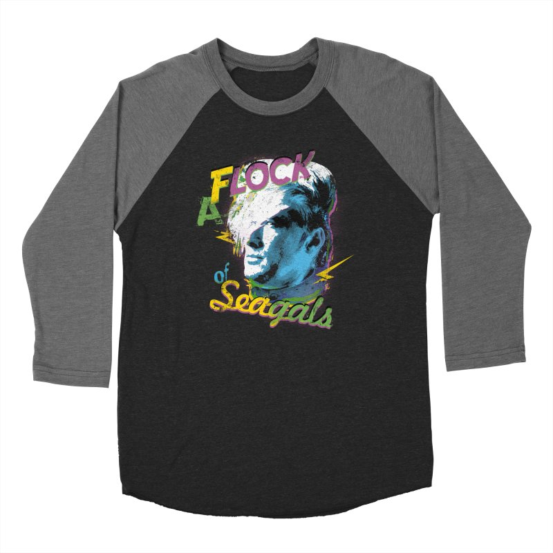 A Flock of Seagals Women's Baseball Triblend Longsleeve T-Shirt by Jerkass