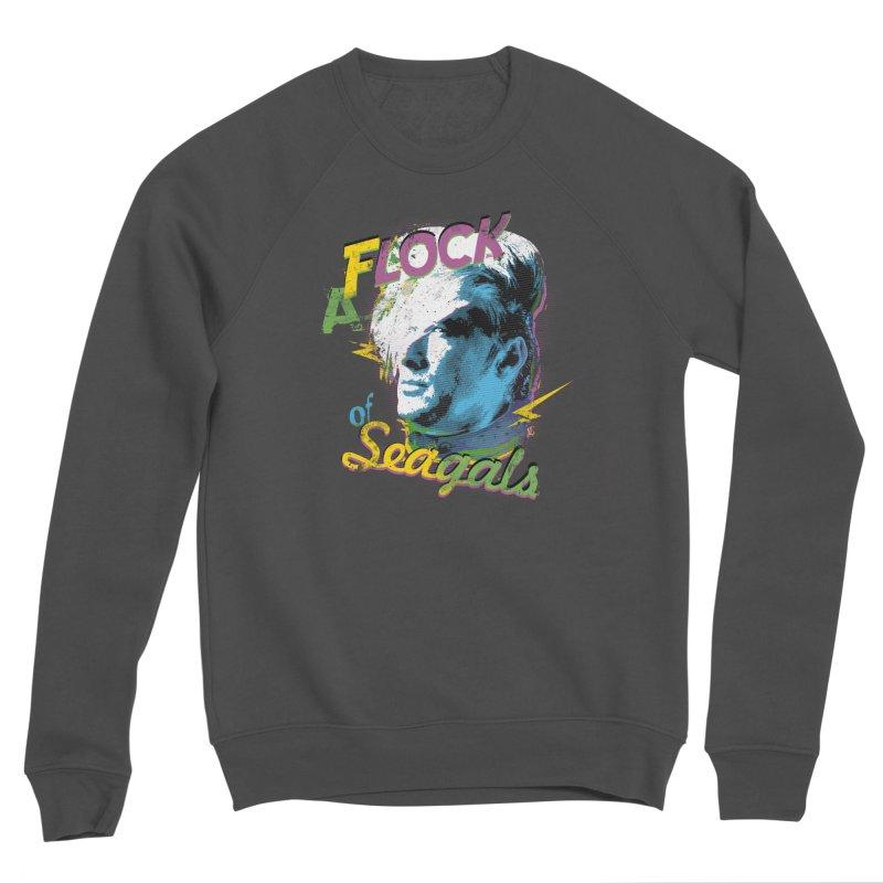 A Flock of Seagals Men's Sponge Fleece Sweatshirt by Jerkass