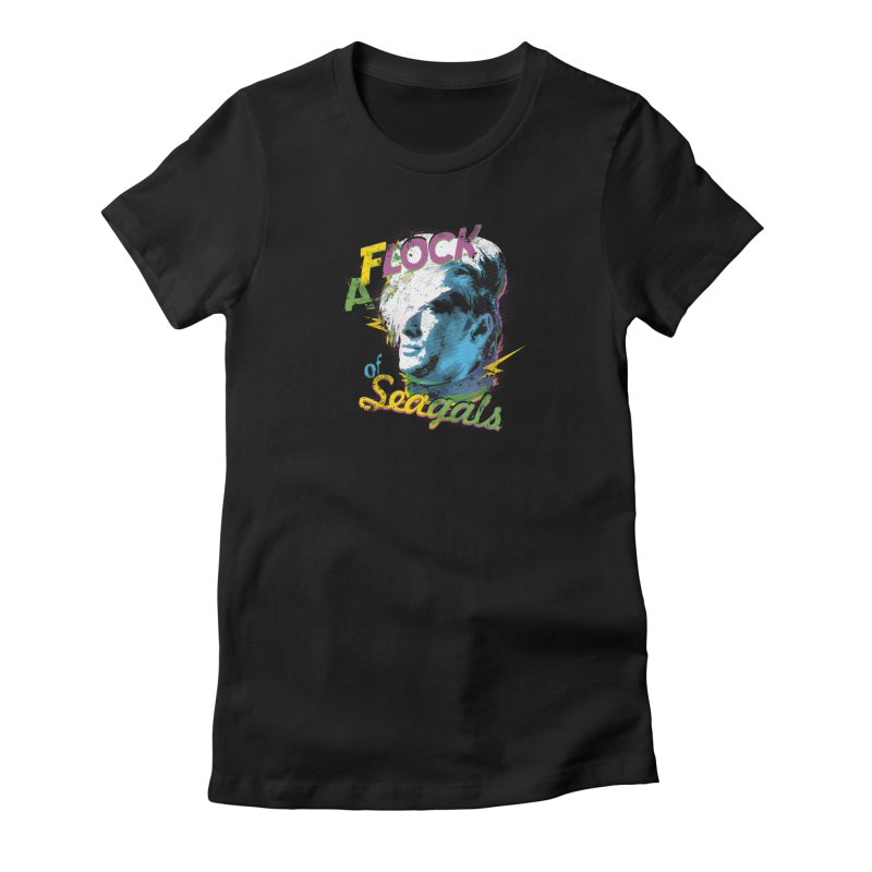A Flock of Seagals Women's Fitted T-Shirt by Jerkass