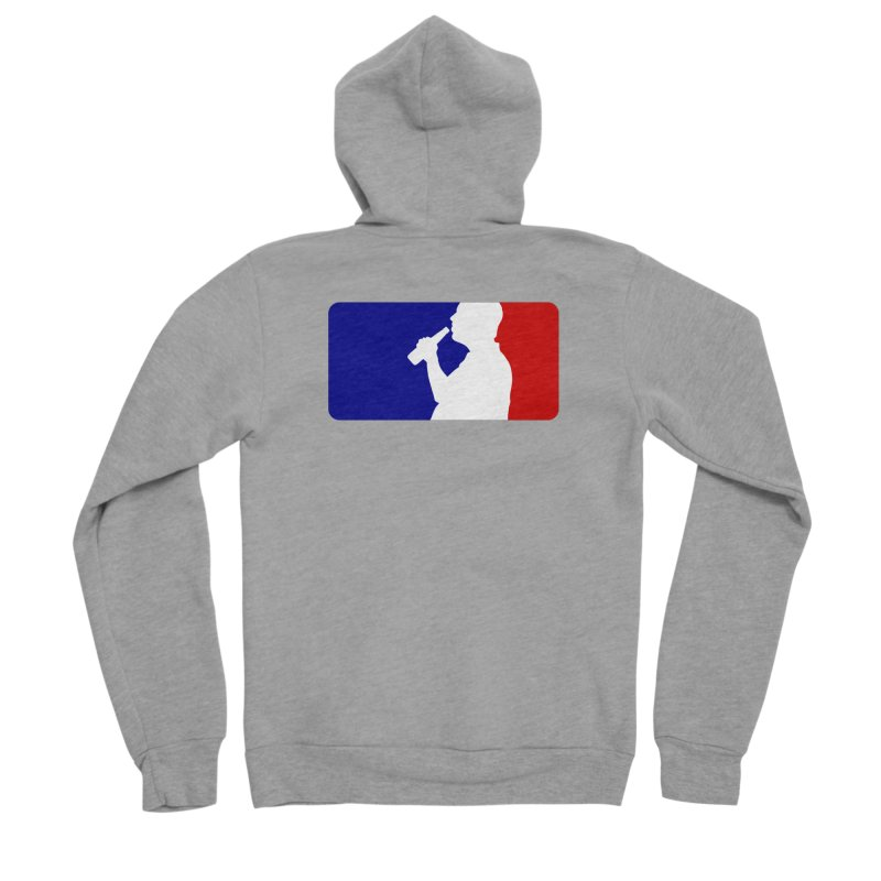 Major League Drinking Logo Men's Sponge Fleece Zip-Up Hoody by Jerkass