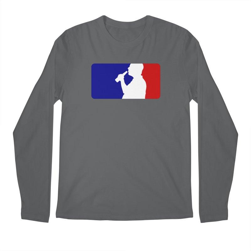 Major League Drinking Logo Men's Longsleeve T-Shirt by Jerkass
