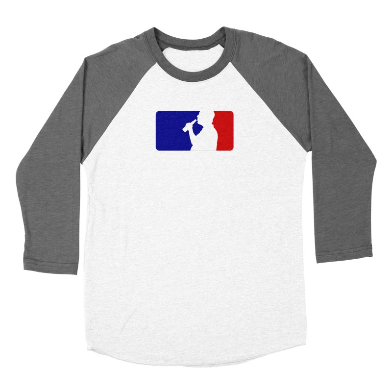 Major League Drinking Logo Women's Baseball Triblend Longsleeve T-Shirt by Jerkass