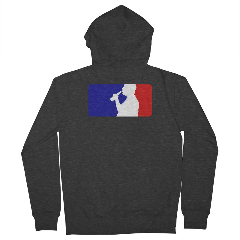 Major League Drinking Logo Men's French Terry Zip-Up Hoody by Jerkass