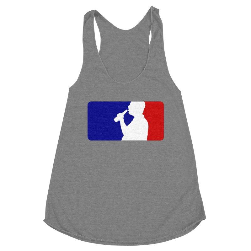 Major League Drinking Logo Women's Racerback Triblend Tank by Jerkass