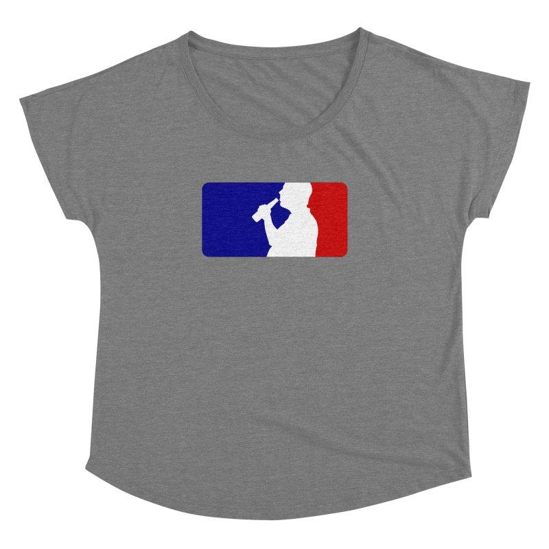 Major League Drinking Logo Women's Scoop Neck by Jerkass