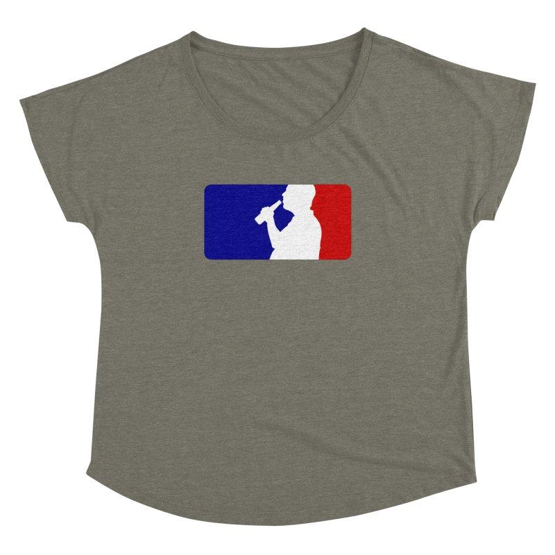 Major League Drinking Logo Women's Dolman Scoop Neck by Jerkass
