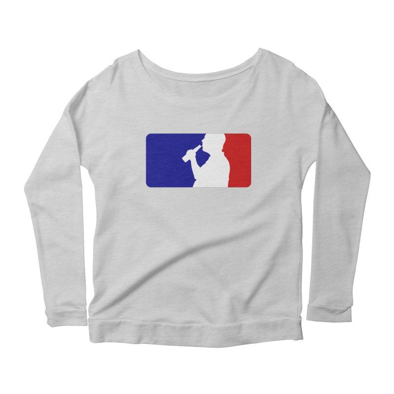 Major League Drinking Logo Women's Scoop Neck Longsleeve T-Shirt by Jerkass