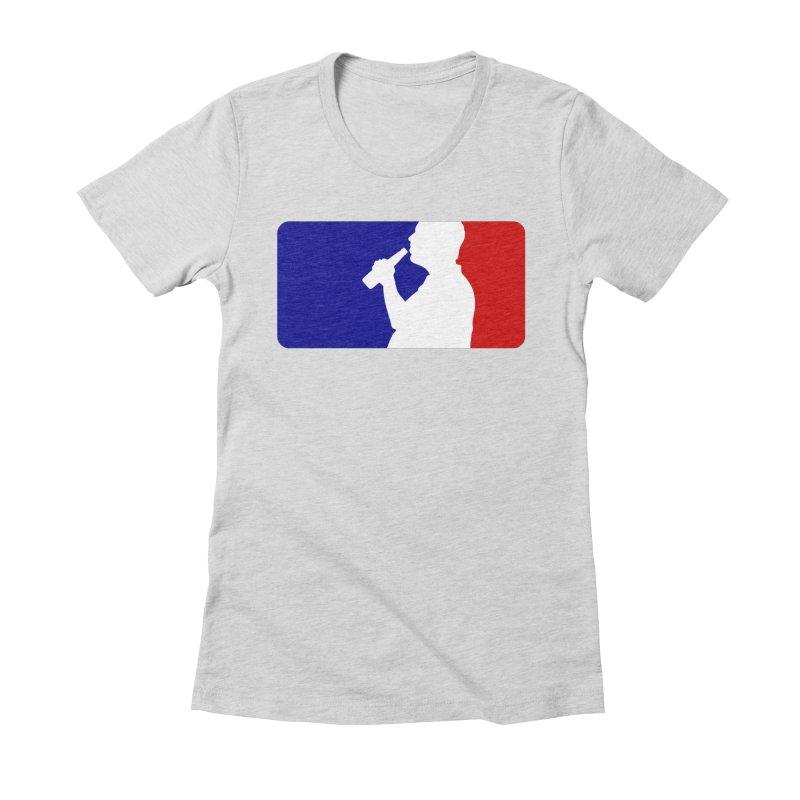 Major League Drinking Logo Women's Fitted T-Shirt by Jerkass