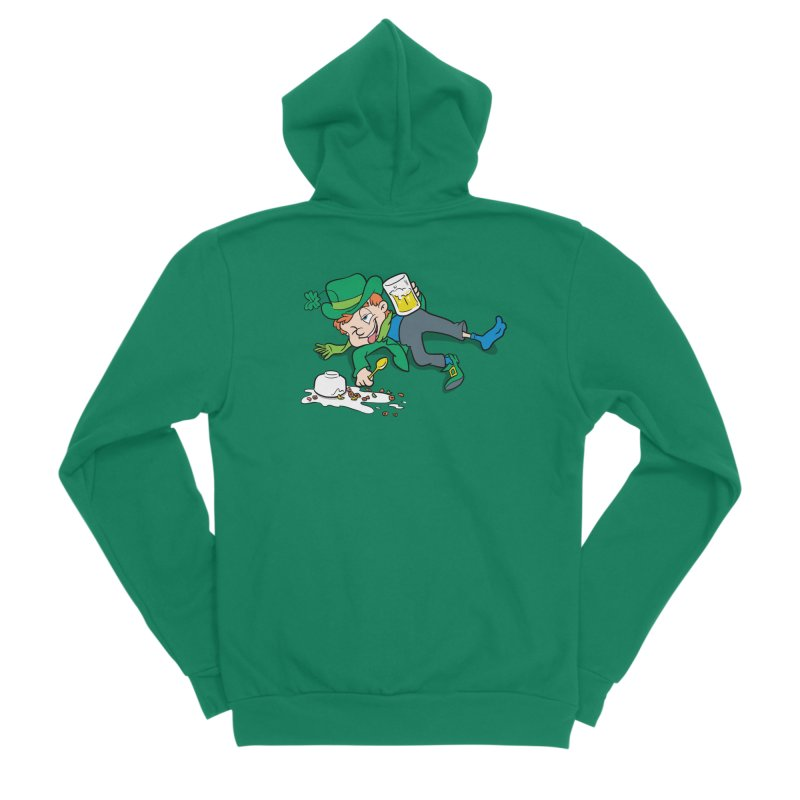 Unlucky Leprechaun Men's Sponge Fleece Zip-Up Hoody by Jerkass