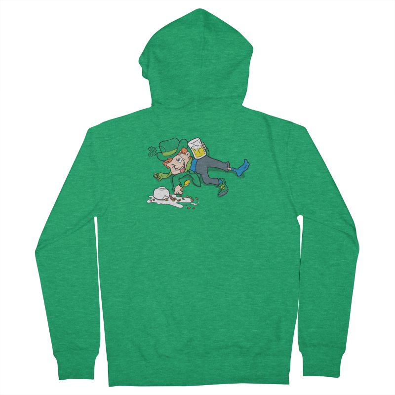 Unlucky Leprechaun Women's French Terry Zip-Up Hoody by Jerkass