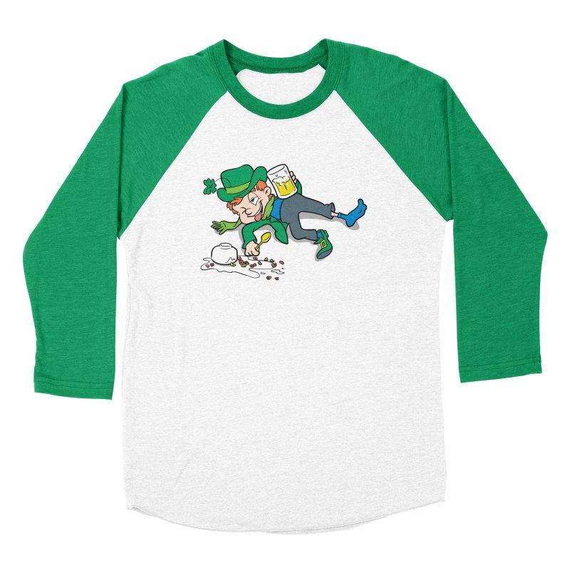 Unlucky Leprechaun Men's Baseball Triblend Longsleeve T-Shirt by Jerkass