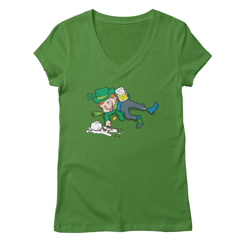 Unlucky Leprechaun Women's V-Neck by Jerkass