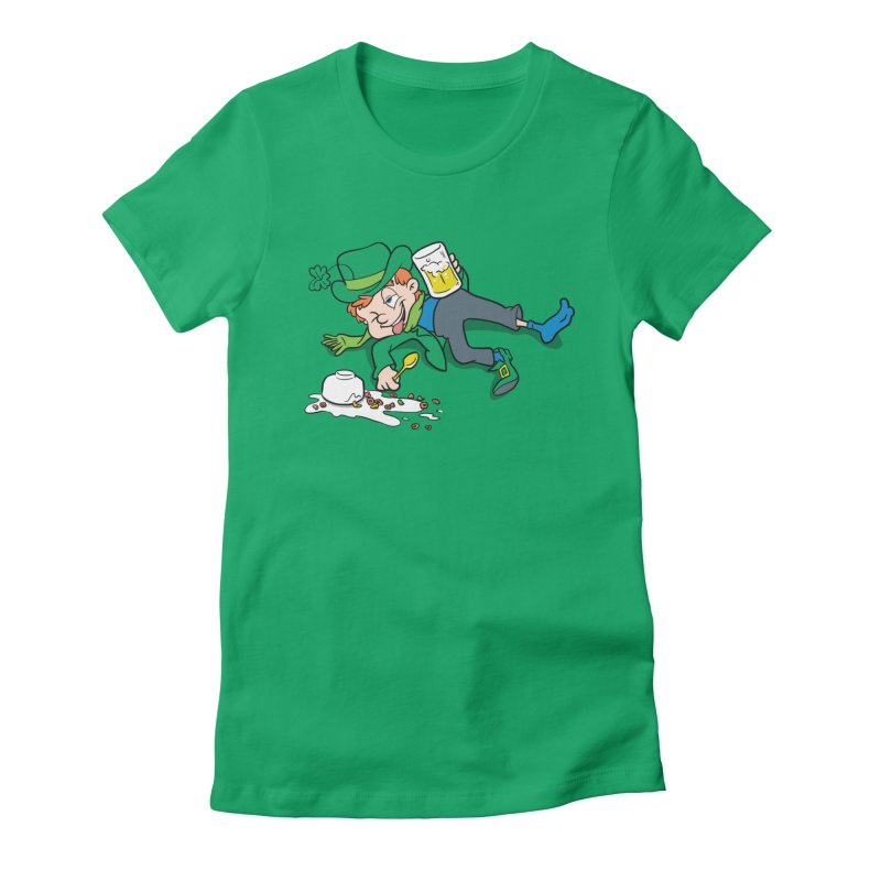 Unlucky Leprechaun Women's Fitted T-Shirt by Jerkass