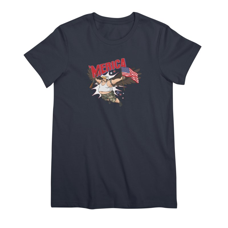 'Merica Women's Premium T-Shirt by Jerkass